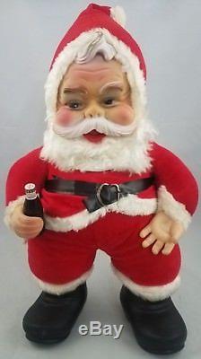 RARE Vintage The Rushton Company Coca Cola Santa Claus 18 Vintage Coke Rubber