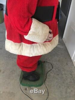 Rare 5 Foot Tall Vintage Animated Mechanical Harold Gale Coca Cola Santa Claus