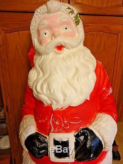 Rare 55 Life Size Santa Claus Christmas Blowmold Light Up Yard Decor Saint Nick