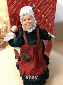 Rare Animated CLOTHTIQUE POSSIBLE DREAMS Jingle Bell Rock Dance SANTA -Mrs CLAUS