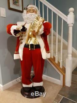 Rare Animated Country Santa Claus Sings / Dances Rings Bells 50 Tall