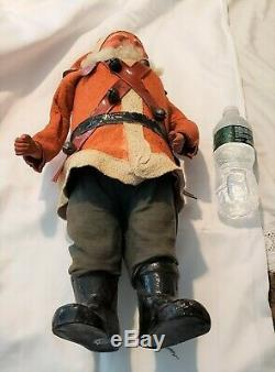 Rare Antique German Santa Claus Belsnickle Giant 2 Foot Tall Candy Container Toy