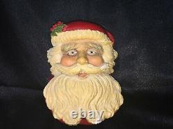 Rare Bossons 1995 The Santa Claus Chalkware Wall Hanging Figure Artist Signed