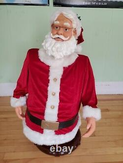 Rare GEMMY Life Size 5ft Christmas Animated Singing Dancing Santa Clause