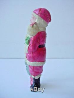 Rare Old or Antique Santa Claus with Children Celluloid Figure Marked Japan