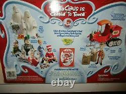 Rare Santa Claus Is Comin To Town Action Figure Trio Set Kris Kringle & Topper