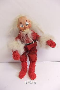 Rare, Unique Vintage Santa Claus Figure Doll Articulated Bendable Oriental