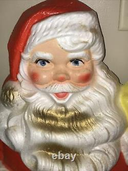 Rare Vintage Poloron Giant Vacucel Santa Claus WithBox -CUTE