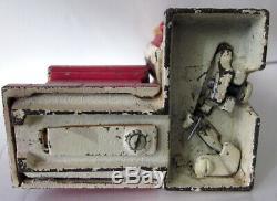 Rare original 1890s Shepherds Hardware Santa Claus cast iron mechanical bank