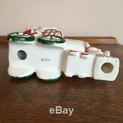Rare vtg Holt Howard Santa Claus reindeer train candle holder Christmas Japan