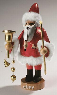 Räucherfigur Santa Claus, rot, groß 37 cm NEU Rauchfigur Räuchermann Erzgebirge