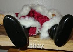 Robert Raikes Collectibles Large Wooden Santa Claus Figure Christmas Doll Signed