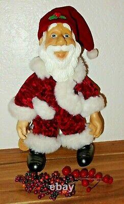 Robert Raikes Collectibles Wooden Santa Claus Figure Christmas Doll Artist Sign