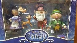 Rudolph Santa & Friends Mr Mrs Claus Island of Misfit Toy Figure Collection Set