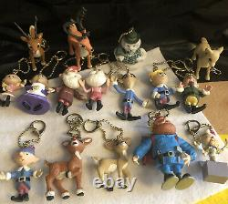 Rudolph the Red Nosed Reindeer PVC Ornaments/ Figures 16 Different Figure LOT