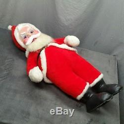 Rushton Santa Claus Doll Rubber Face 40 1950s Coca-Cola Vtg Mid-Century Figure