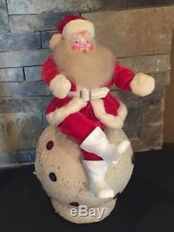 SALE Santa Claus Vtg 50s MCM Harold Gale Christmas Store Display Velvet Snowball