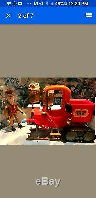 SANTA CLAUS COMING COMIN TO TOWN MUSICAL MAIL TRUCK NORTH POLE Memory Lane WORKS