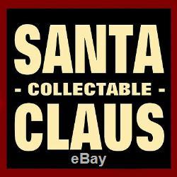SANTA CLAUS FIGURE with TOYS / KURT ADLER CLOTHTIQUE /'CHECKING HIS LIST