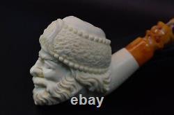 SANTA Clause figure pipe New Handmade Block Meerschaum W CASE-Stand#97