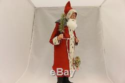 Saint Nickolas Santa Claus by Two Sisters Studios NEW Christmas Candy Container