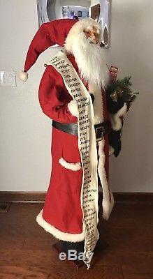Santa Claus 5 ft Figure Life Size Christmas Display Decoration Prop
