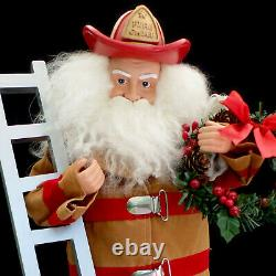 Santa Claus Christmas Figure / Fireman / Fire Chief / Dalmatian Puppy / XL Size