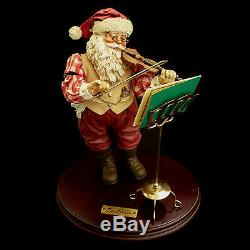 Santa Claus Christmas Figure / Santa & Violin / Santa Fiddler / Kurt Adler