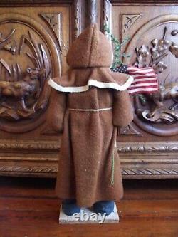 Santa Claus Christmas Soft Sculpture Doll Patriotic Flag Tree Artist Made OOAK