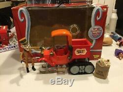 Santa Claus Comin Coming town Action Mailman Mail Truck Rankin Bass free ship
