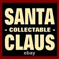 Santa Claus Figure / Antiqued Crackle Finish / Santa & Toy Sack / Large Size