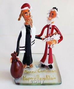 Santa Claus Figurine Figure Interfaith Christmas Murano Glass Gift Brand New