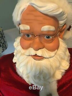 Santa Claus GEMMY 52 Life Size Christmas WithAdapter & Mic clean please read