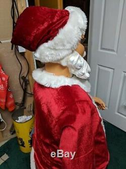 Santa Claus GEMMY 5ft Life Size Singing Vintage Christmas Animated