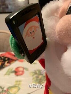 Santa Claus Gemmy Musical Plush Phone Flashes Dances To Let Me Take A Selfie NWT