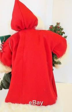 Santa Claus Handmade OOAK Primitive Style Red Coat Christmas Toys