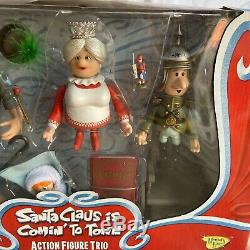 Santa Claus Is Comin' To Town 3 Action Figures Trio Christmas Collection NEW