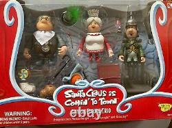 Santa Claus Is Comin' To Town Action Figure Trio Memory Lane Vintage
