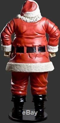 Santa Claus Jolly 6 ft Life Size Resin Christmas Statue Holiday Decor