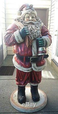 Santa Claus Statue life size Christmas decor fiberglass