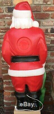 Santa Claus and his bag of Toys & Gifts 4 feet tall Blow Mold Yard Ornament