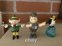 Santa Claus is Comin' Coming to Town Loose PVC Figures Christmas Figure Lot