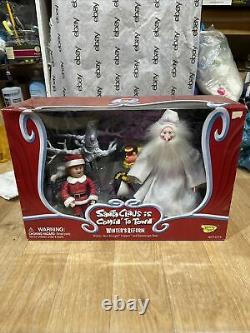 Santa Claus is Comin to Town WINTER'S REFORM Figure Topper Kringle Snowscape New
