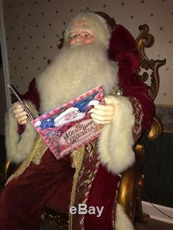 Santa Claus, life size manequin with decorative chair