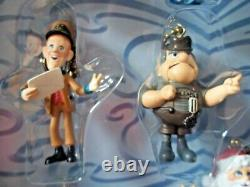 Set Of 10 Holiday Ornaments / Figures Santa Claus Is Coming To Town MEMORY LANE