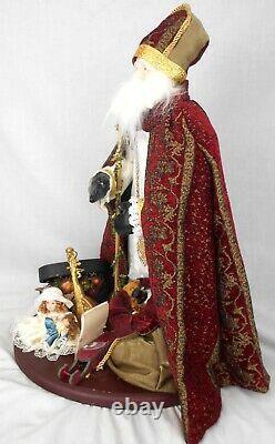 St. Nicholas Father Christmas Santa Claus Figure Almost 2' Tall OOAK