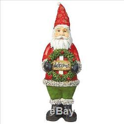 St Nick Santa Claus Merriest Welcome Wreath Festive Holiday Home Decor Statue