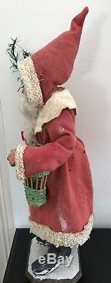 Stunning Early German Large Santa Claus Father Christmas Candy-container