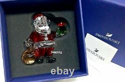 Swarovski Santa Claus with Gift Bag Multi Colors Crystal Authentic MIB 5539365