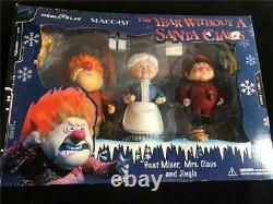 The Year Without A Santa Claus Figures Heat Miser Mrs Claus Jingle NIB Palisades